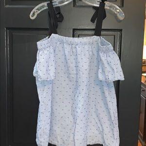 Motherhood material off the shoulder shirt  large